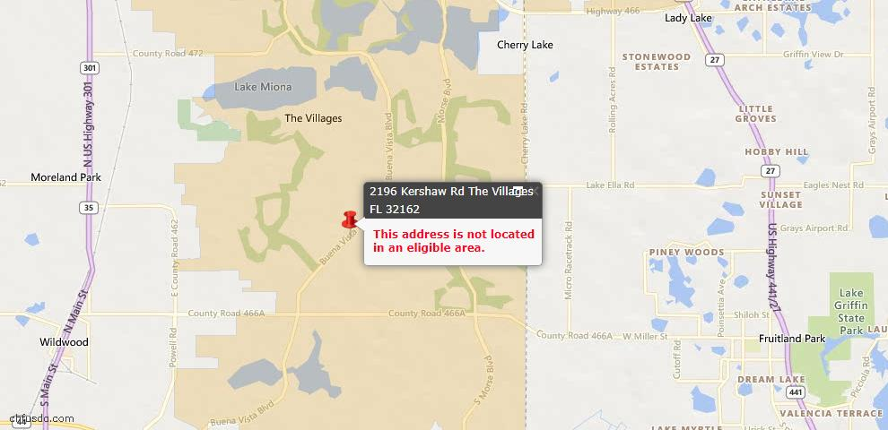 USDA Loan Eligiblity Maps From - The Villages, FL