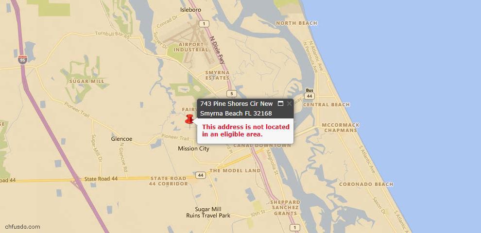 USDA Loan Eligiblity Maps From - New Smyrna Beach, FL