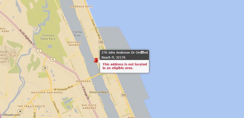 USDA Loan Eligiblity Maps From - Ormond Beach, FL