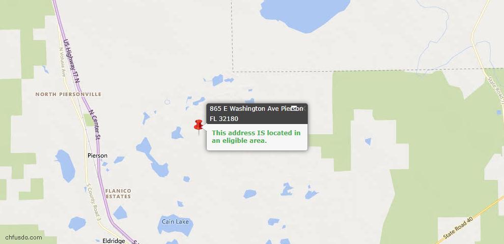 USDA Loan Eligiblity Maps From - Pierson, FL