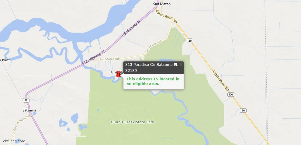 USDA Loan Eligiblity Maps From - Satsuma, FL