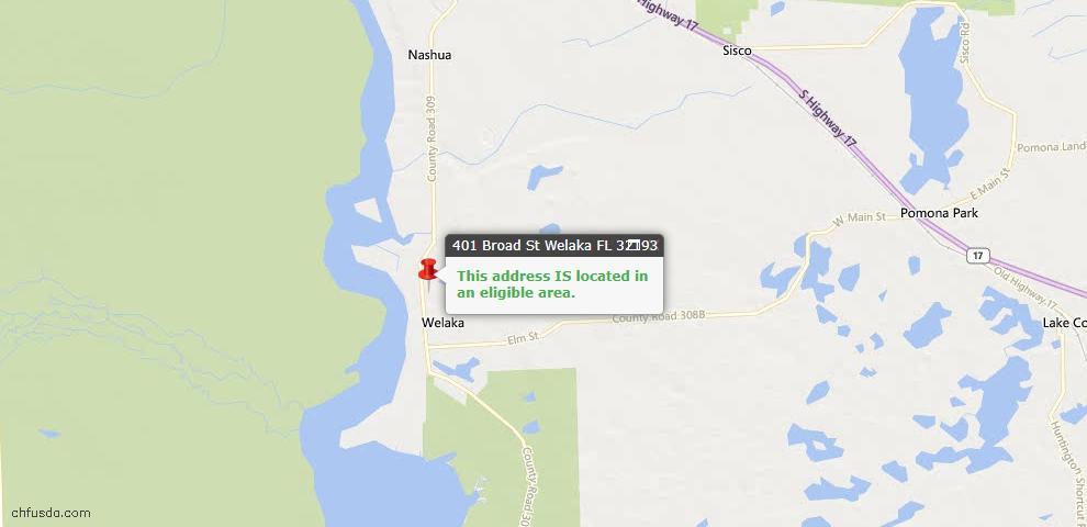 USDA Loan Eligiblity Maps From - Welaka, FL