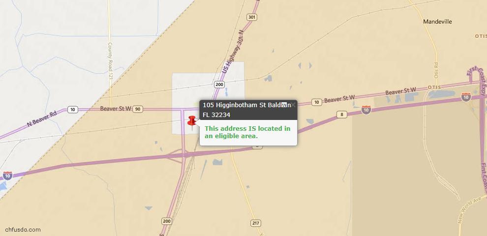 USDA Loan Eligiblity Maps From - Baldwin, FL