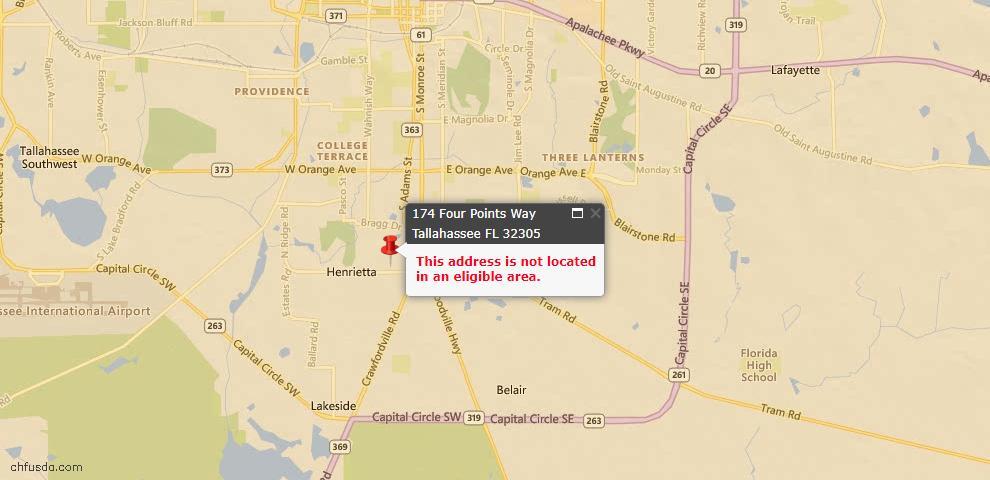 USDA Loan Eligiblity Maps From - 32305, FL