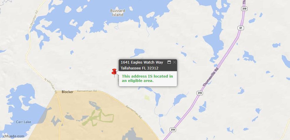 USDA Loan Eligiblity Map - 1641 Eagles Watch Way, Tallahassee, FL 32312