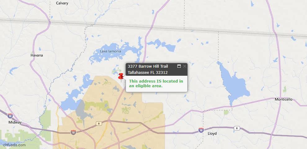 USDA Loan Eligiblity Map - 3377 Barrow Hill Trl, Tallahassee, FL 32312