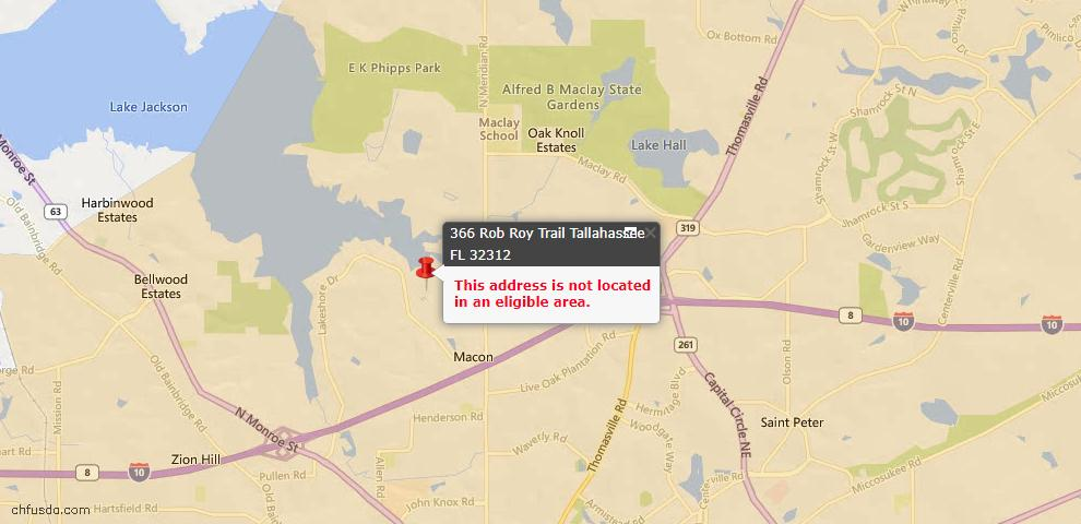 USDA Loan Eligiblity Maps From - Tallahassee, FL