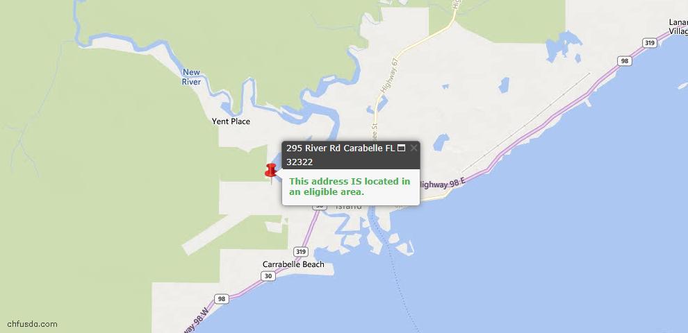 USDA Loan Eligiblity Maps From - Carrabelle, FL