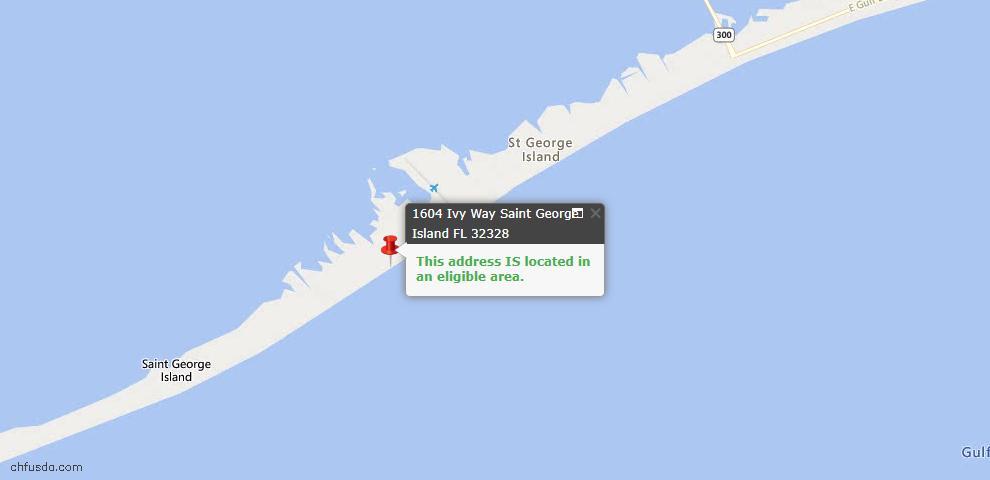 USDA Loan Eligiblity Maps From - St. George Island, FL