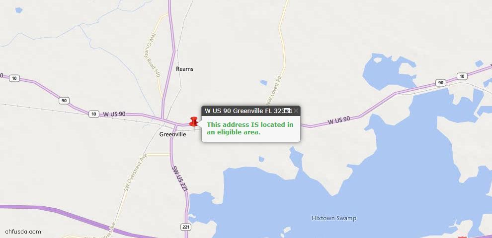 USDA Loan Eligiblity Maps From - Greenville, FL