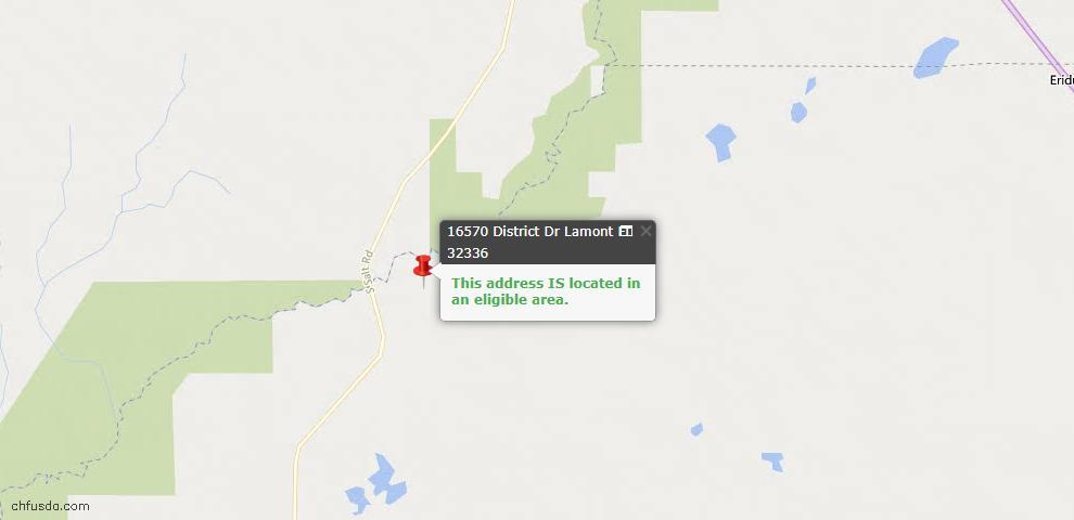 USDA Loan Eligiblity Maps From - Lamont, FL