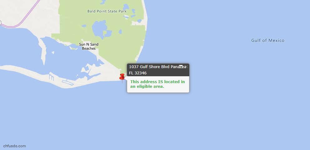 USDA Loan Eligiblity Maps From - Alligator Point, FL