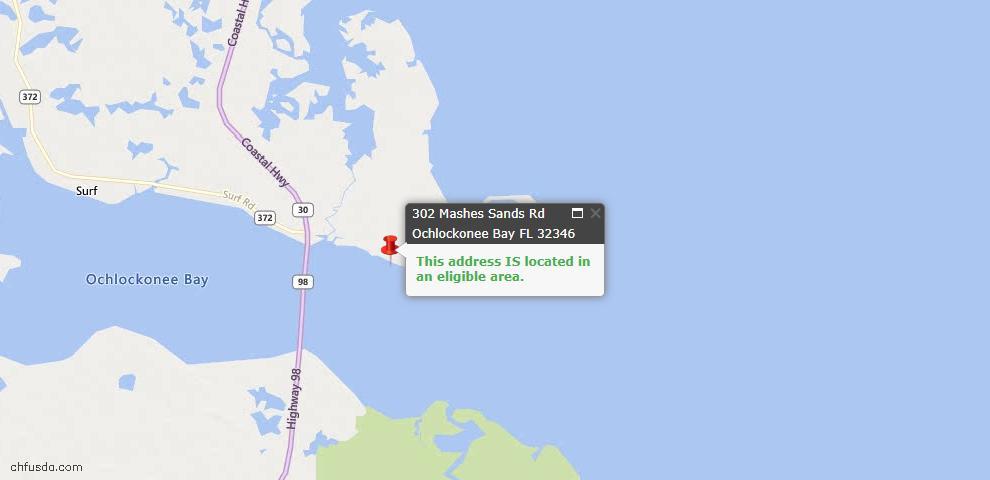 USDA Loan Eligiblity Maps From - Ochlockonee Bay, FL