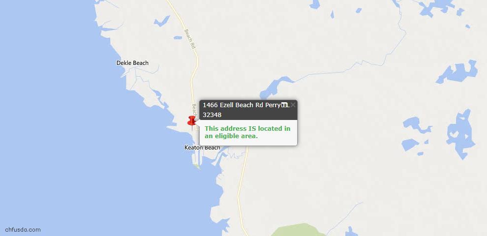 USDA Loan Eligiblity Maps From - Keaton Beach, FL