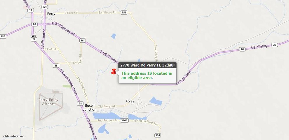 USDA Loan Eligiblity Maps From - Perry, FL