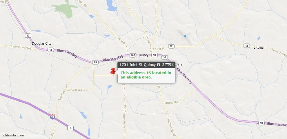 USDA Loan Eligiblity Maps From - Quincy, FL