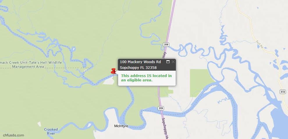 USDA Loan Eligiblity Maps From - Sopchoppy, FL