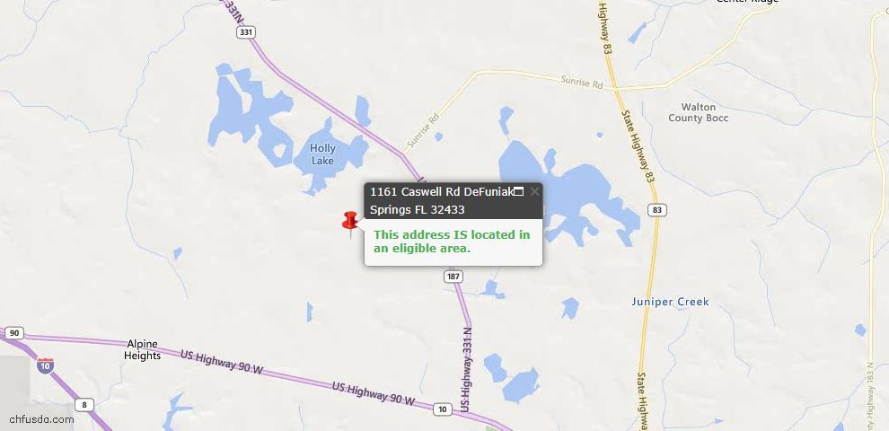 USDA Loan Eligiblity Maps From - Defuniak Springs, FL