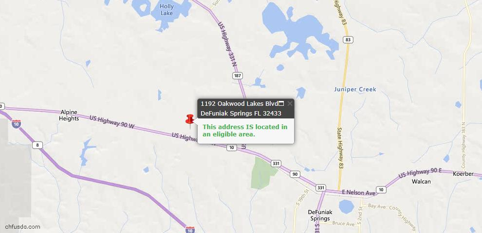 USDA Loan Eligiblity Maps From - Walton County, FL