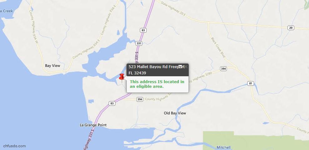 USDA Loan Eligiblity Maps From - Freeport, FL