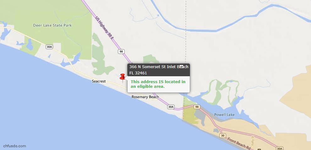 USDA Loan Eligiblity Maps From - Alys Beach, FL