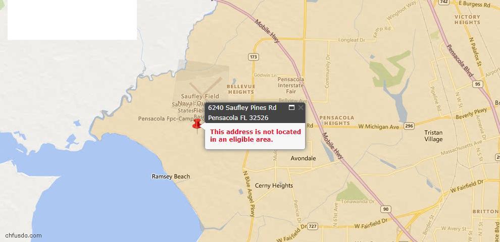 USDA Loan Eligiblity Maps From - 32526, FL