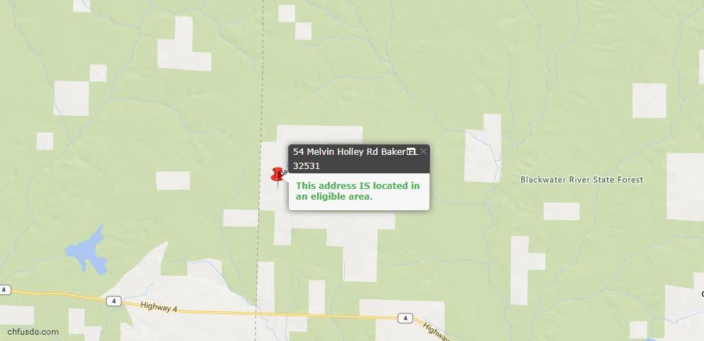 USDA Loan Eligiblity Maps From - Baker, FL