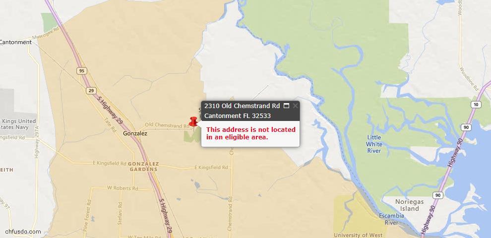 USDA Loan Eligiblity Maps From - 32533, FL