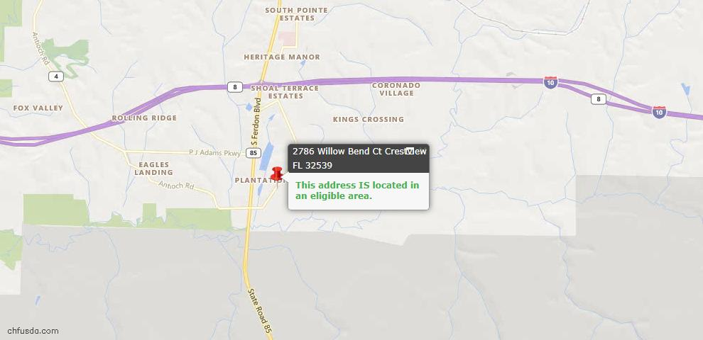 USDA Loan Eligiblity Maps From - Crestview, FL