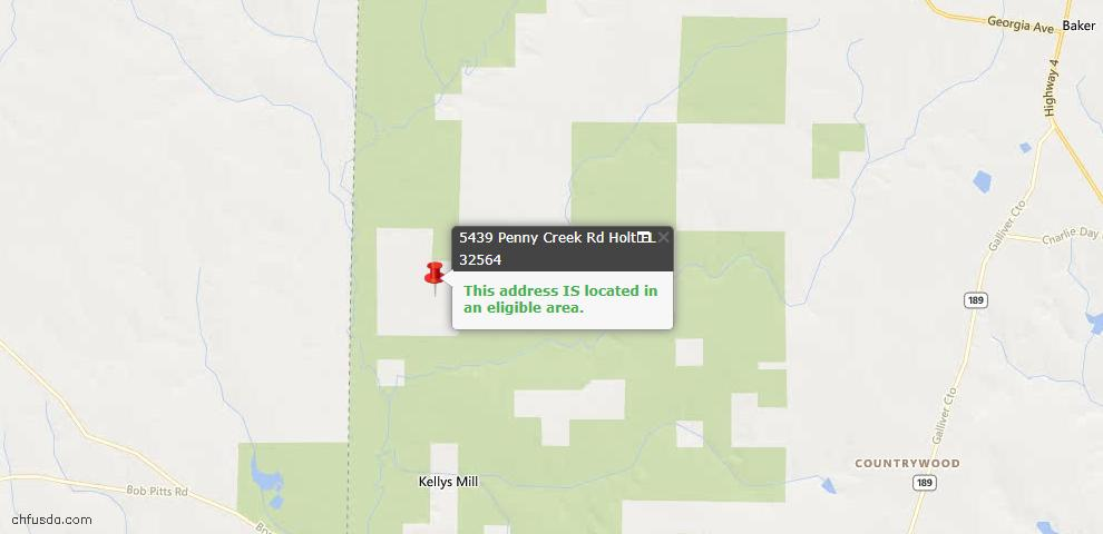 USDA Loan Eligiblity Maps From - Holt, FL