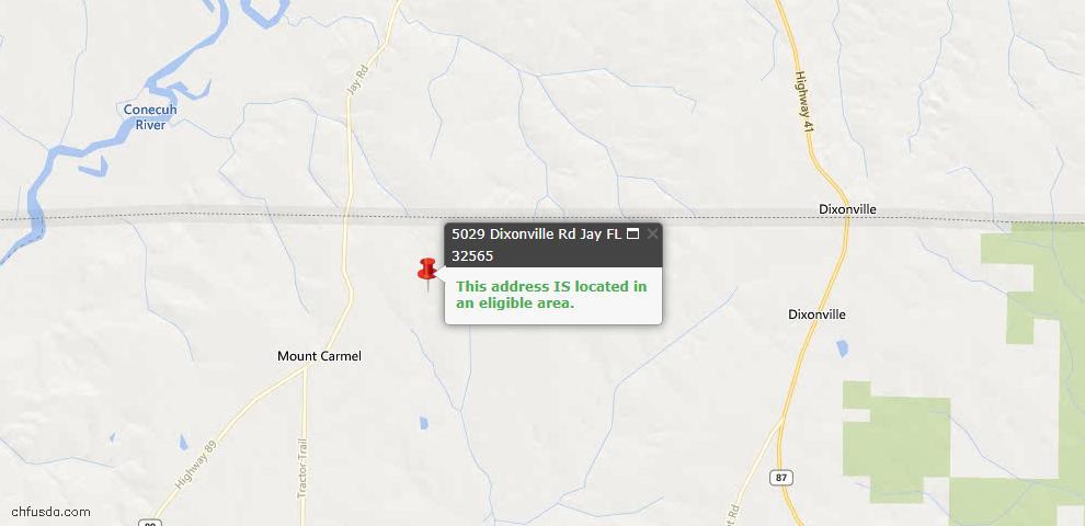 USDA Loan Eligiblity Maps From - Jay, FL