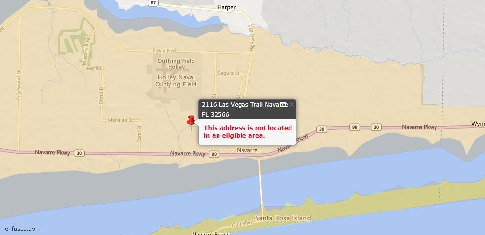 USDA Loan Eligiblity Maps From - Navarre, FL