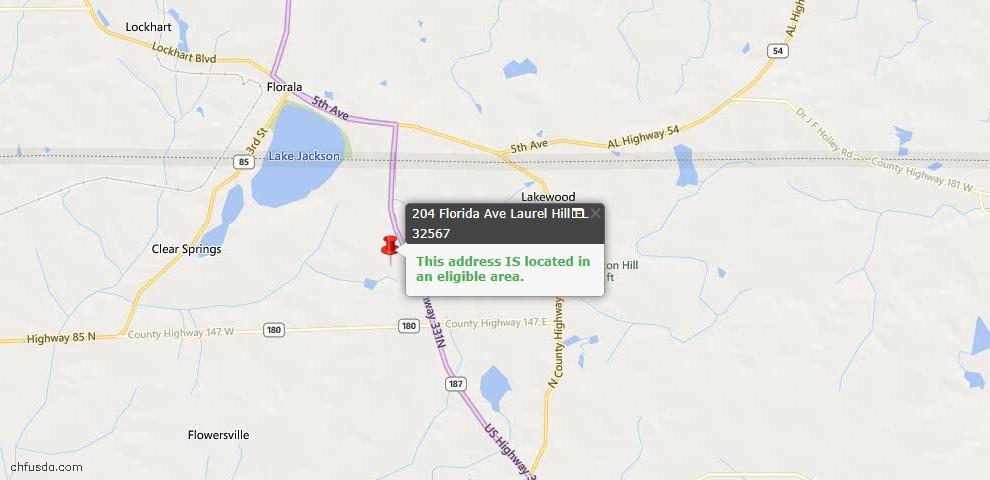 USDA Loan Eligiblity Maps From - Laurel Hill, FL