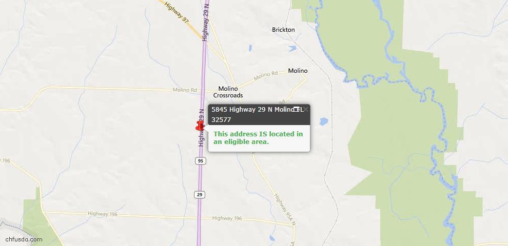 USDA Loan Eligiblity Maps From - Molino, FL