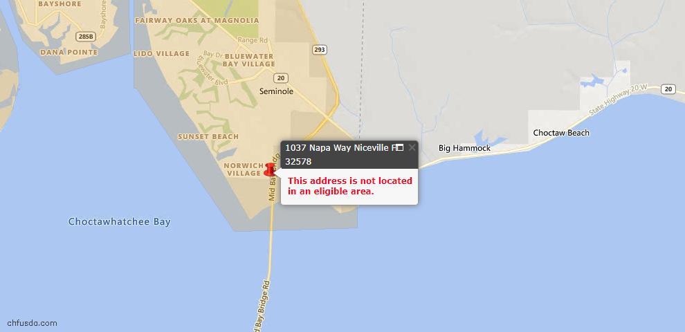 USDA Loan Eligiblity Maps From - Niceville, FL