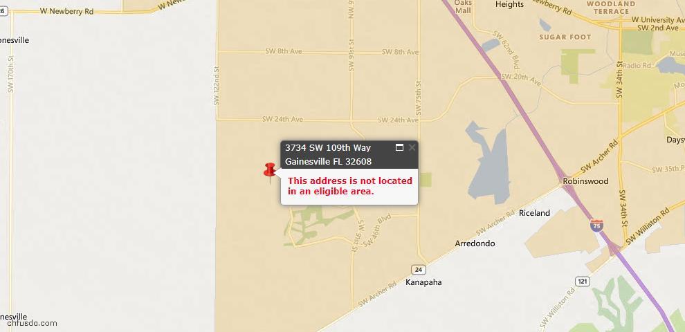 USDA Loan Eligiblity Maps From - Alachua County, FL