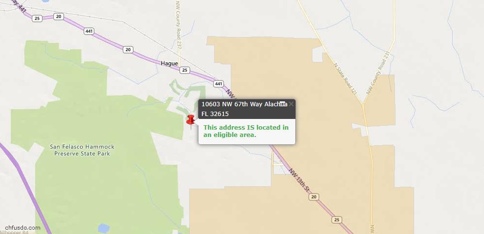 USDA Loan Eligiblity Maps From - Alachua, FL