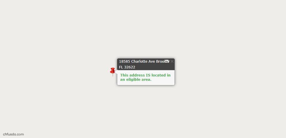 USDA Loan Eligiblity Maps From - Brooker, FL