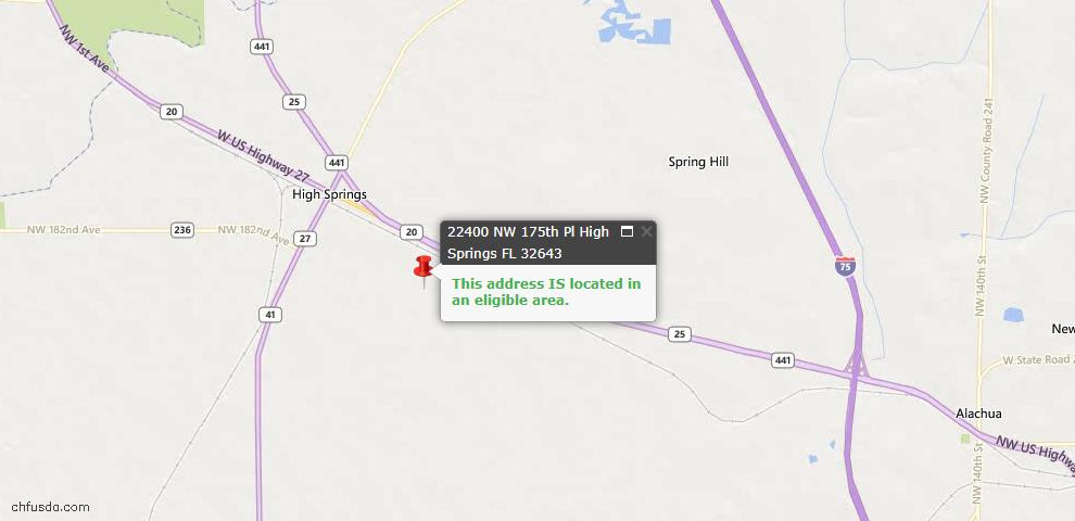 USDA Loan Eligiblity Maps From - High Springs, FL