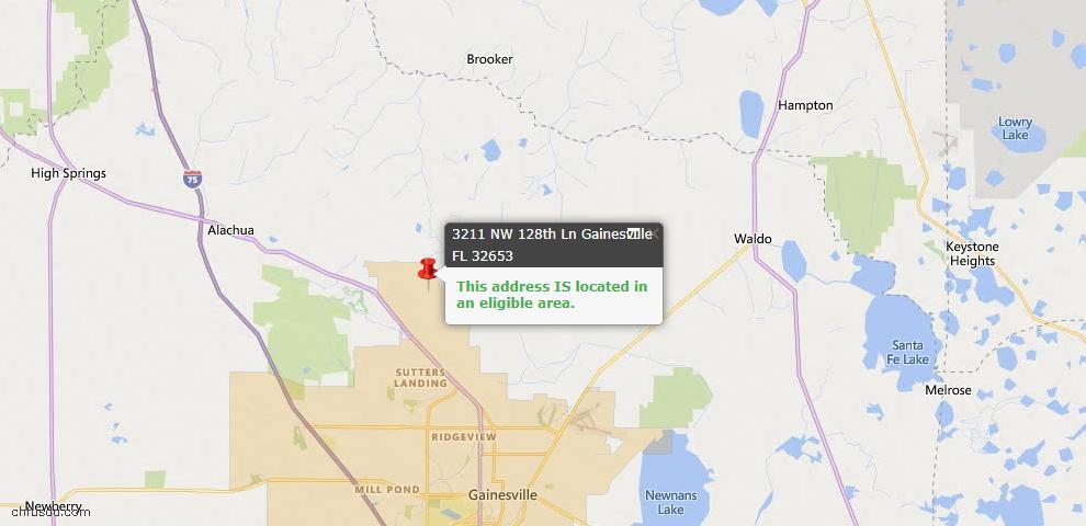 USDA Loan Eligiblity Map - 3211 NW 128th Ln, Gainesville, FL 32653