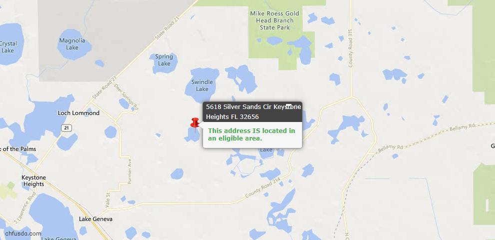 USDA Loan Eligiblity Maps From - Clay County, FL