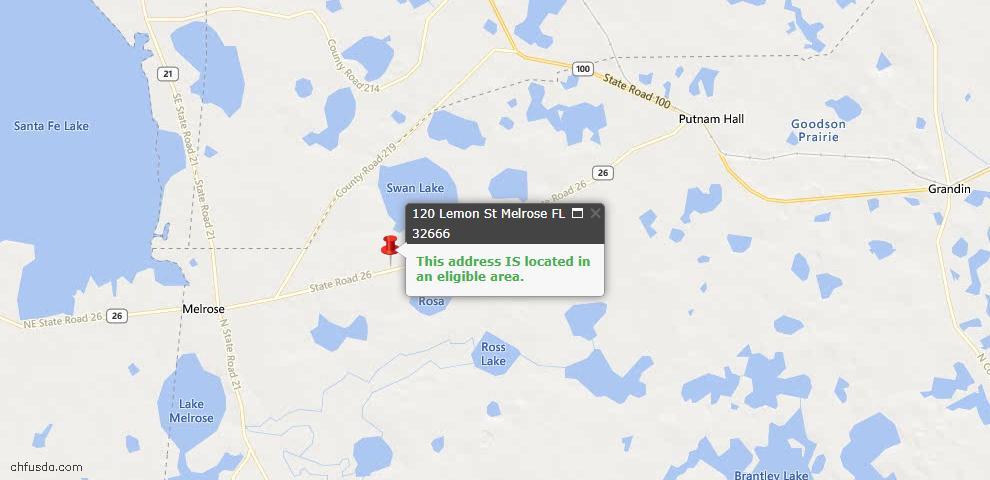 USDA Loan Eligiblity Maps From - Melrose, FL