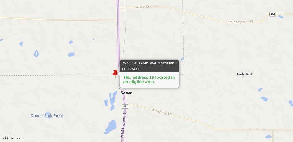 USDA Loan Eligiblity Maps From - Morriston, FL