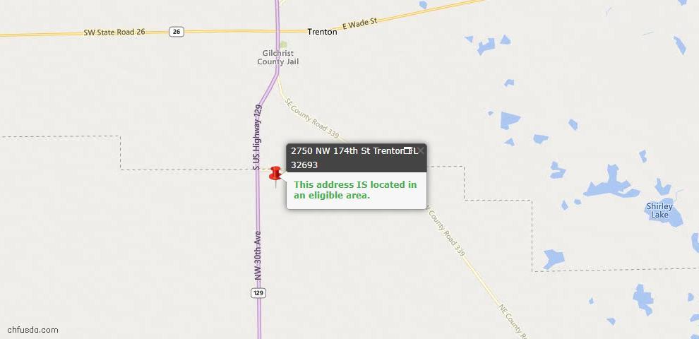 USDA Loan Eligiblity Maps From - Trenton, FL
