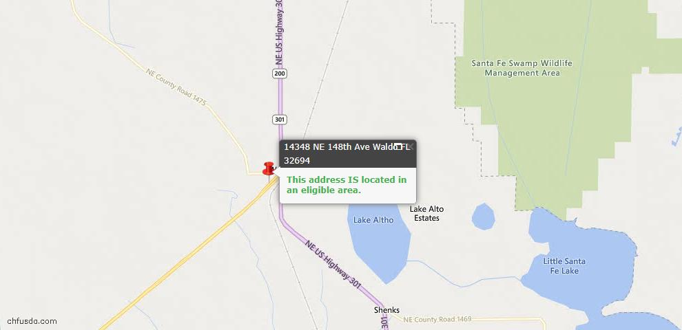 USDA Loan Eligiblity Maps From - Waldo, FL