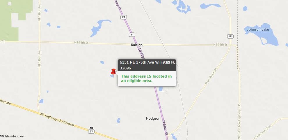 USDA Loan Eligiblity Maps From - Williston, FL