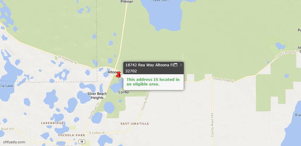 USDA Loan Eligiblity Maps From - Altoona, FL