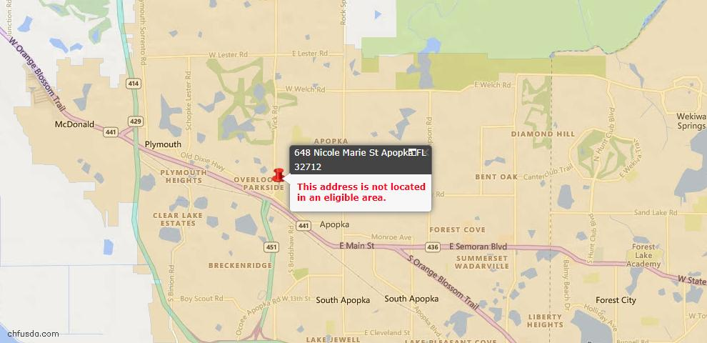 USDA Loan Eligiblity Maps From - Apopka, FL