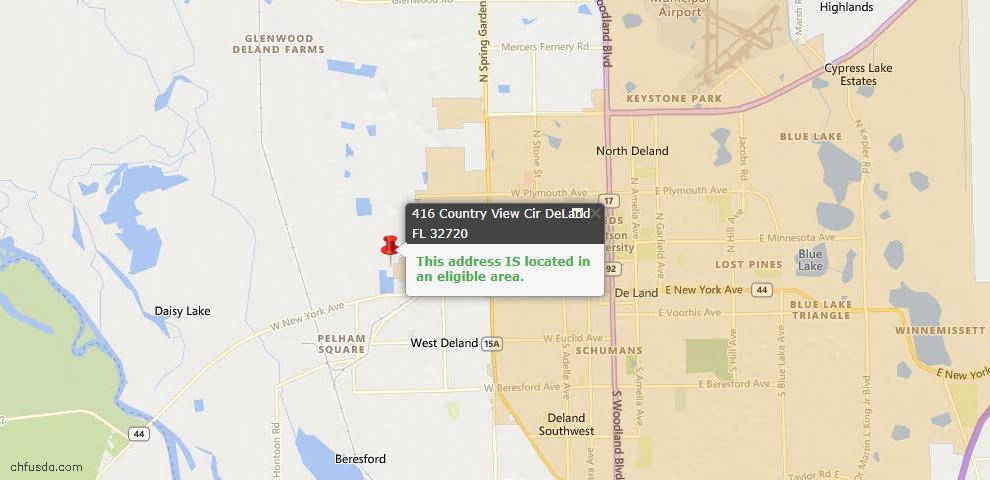 USDA Loan Eligiblity Maps From - Deland, FL