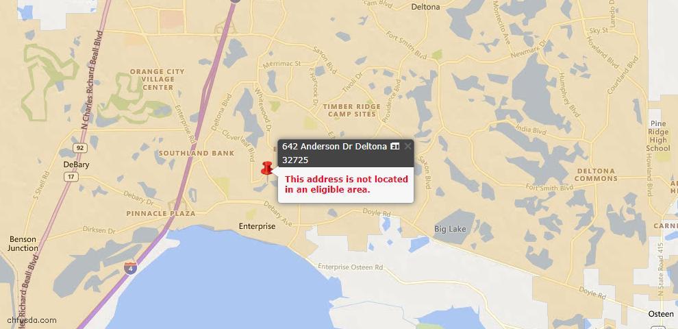 USDA Loan Eligiblity Maps From - Deltona, FL